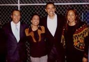Wanda and Valerie Whitmore with Governor Deval Patrick, Barack Obama, Lt. Gov. Tim Murray & Courtney Kelly